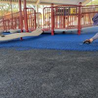 DuraPlay Pour in Place Rubber Surfacing Buffings Layer
